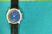 Bracelet de montre de cuir upcycled (super facile)