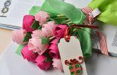 Cadeau de fête des mères-comment faire un Bouquet de fleurs feutre