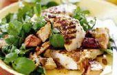 Grillades de poulet, salade Bacon canadien