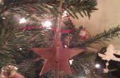 3D en bois Star suspendus décoration