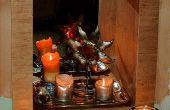 Transformer une cheminée inutilisée dans un recoin de la bougie.