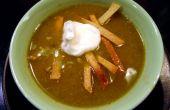 Soupe de Tortilla poulet, Chili vert,