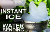 La glace instantanée - comment Waterbend In Real Life