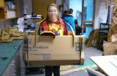 Colossale carton caméra-Flat Pack Construction
