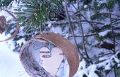 Écorce de bouleau facile, ornements d'arbre de Noël