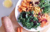 RECETTE | SALADE de YAM & VEGGIE grillé avec vinaigrette citron