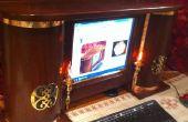Steampunk ordinateur moniteur