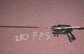 Pistolet nerf super modifié (dans un airsoft gun 250 fps)