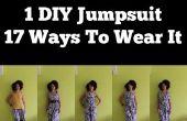 Comment faire une combinaison DIY, portez-le 17 façons | Vêtements bricolage pour voyager