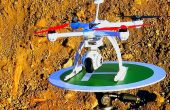 Drone / hélicoptère d'atterrissage (trépied)