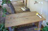 Créer une Table de jardin avec eau courante !