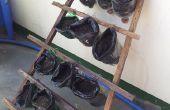 Plantes en pots avec support de matières recyclées
