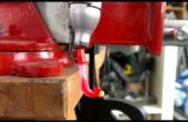 BRICOLAGE moins cher extrudeuse de bouteille en plastique, recyclage HDPE pots à lait en filaments