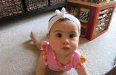 Repurposed bébé serre-tête avec noeud papillon (ou Bandana bébé?!)-aucune couture !