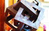 Origami Puzzle de Sculpture: 4 Cubes qui se croisent