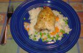 Poulet italien et cuire de riz