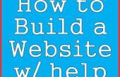 Comment construire un site Web