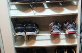 Utiliser un construit dans l'étagère à chaussures pour les chaussures à fond plat