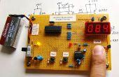 Microcontrôleur mesure la fréquence cardiaque par le biais du bout des doigts