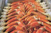 Faire griller les crevettes Scampi et pattes de crabe des neiges