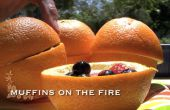 Muffins orange sur le feu