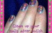 Nettoyez vos ongles après polissage !