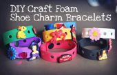 Bracelets à breloques chaussure bricolage Artisanat mousse