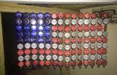Bouteille à bouchon drapeau américain