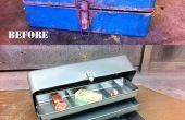 Restaurer un vieux coffre à pêche rouillé avec sablage & enduit de poudre