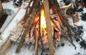 Comment faire un feu de camp tipi