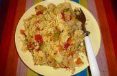 Un puits régime nutritif équilibré : Pressure-Cooked riz avec lentilles et légumes
