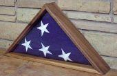 Présentoir pour un drapeau honneurs militaires
