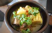 Cazuela de Vacuno (traditionnel chilien viande Casserol)