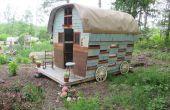 Gypsy Wagon construit à partir de matériaux récupérés