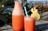 Limonade aux fraises de gingembre