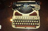Restauration d'un cas de machine à écrire de 1926