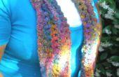 Curly Q Keyhole écharpe au Crochet