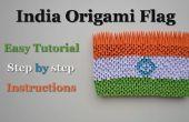 L'Inde Origami 3D drapeau