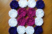 Fleurs en laine sans crochet!!!