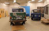 Retirer le moteur et la transmission ensemble un Bus VW Type II baie vitrée à TechShop