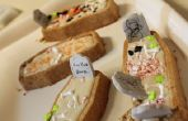 Vanille coco Halloween Coffin Cupcakes avec beurre crème glaçage au