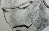 Iron Man stylo dessin