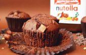 Centre de Nutella chocolat puce Muffins avec une truffe Nutella