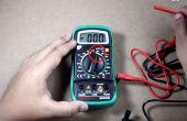 Comment mesurer la tension à l'aide du multimètre