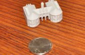 3D imprimés Miniture Colonial Williamsburg Building : le Capitole de