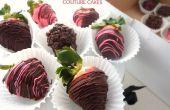 Enrobées de chocolat parfait fraises pour la Saint-Valentin