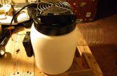 Ventilateur d'Air froid à partir de bouteilles en plastique réutilisé