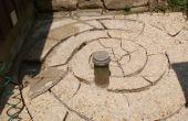 Patio de brique personnalisée spirale Pierre