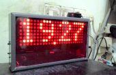 Cassing bricolage horloge numérique matricielle avec Instalation Cable Canal U