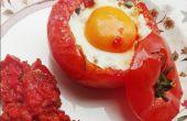 Œufs dans un nid de tomate !
